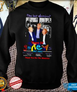 The last domino 55 years of Genesis 1967 2022 thank you for the memories signatures shirt