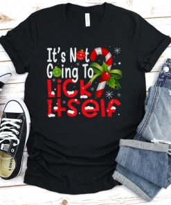 Official Christmas Its Not Going To Lick Itself Candy Cane Gifts T Shirt