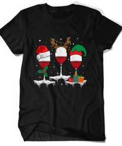 Official Christmas Three Glass Of Red Wine Xmas Funny Gifts Men Women T Shirt